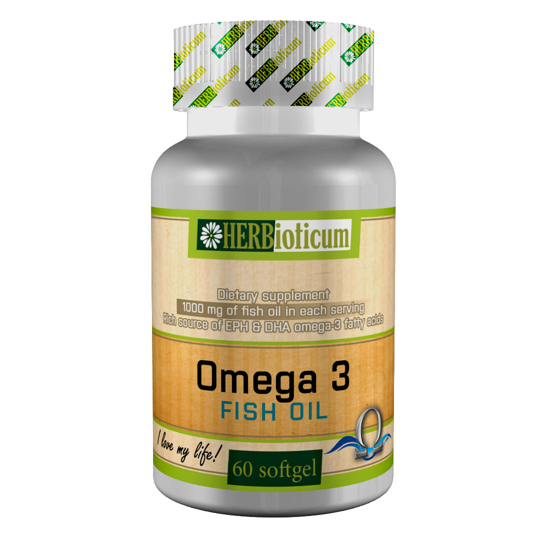 Omega 3 fish oil dietary supplement herbioticum for What is omega 3 fish oil good for